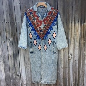 Whistle Britches Vintage Embroidered Jean Jacket M